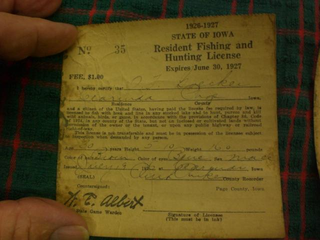 2 1920 39 s hunting and fishing license 39 s for sale for sale for How much is a fishing license in kentucky