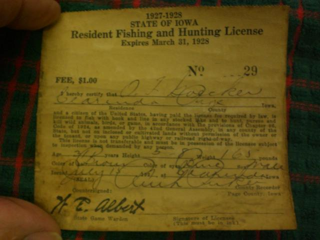 2 1920 39 s hunting and fishing license 39 s for sale for sale for Iowa fishing license